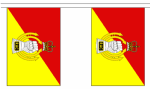 ROYAL ARMOURED CORPS BUNTING - 3 METRES 10 FLAGS